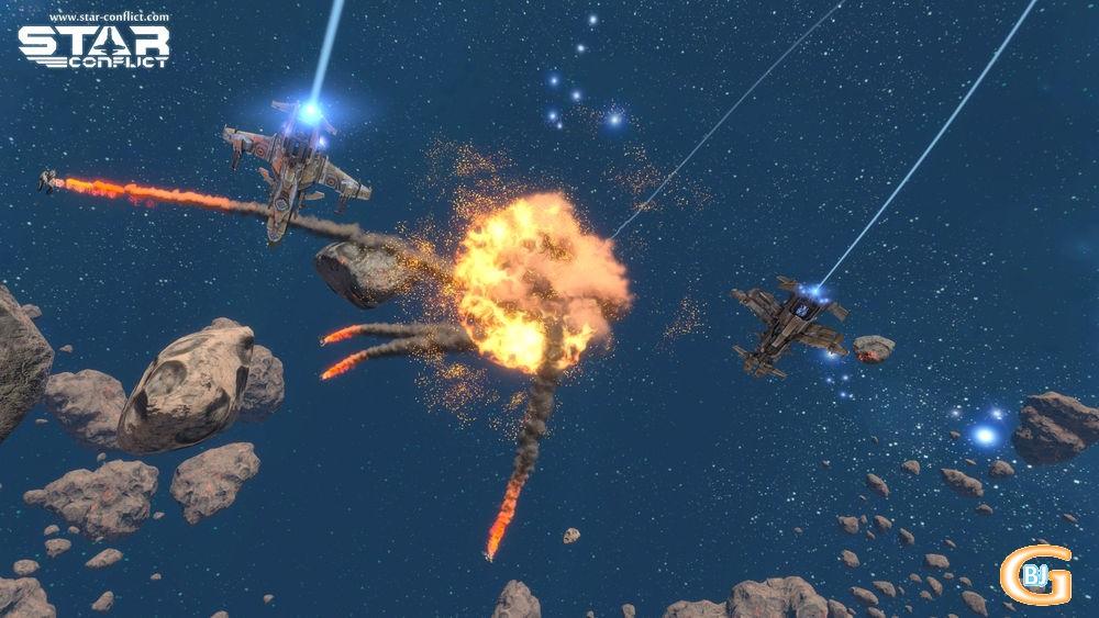 jeu de combat spatial - star conflict
