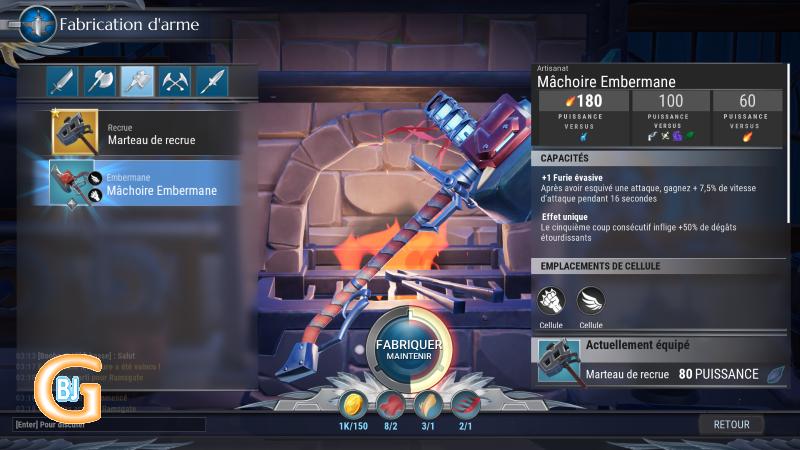 forge arme dauntless - bons jeux gratuits